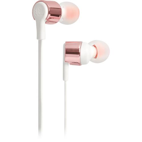 JBL T210 In-Ear Headphones (Rose Gold)