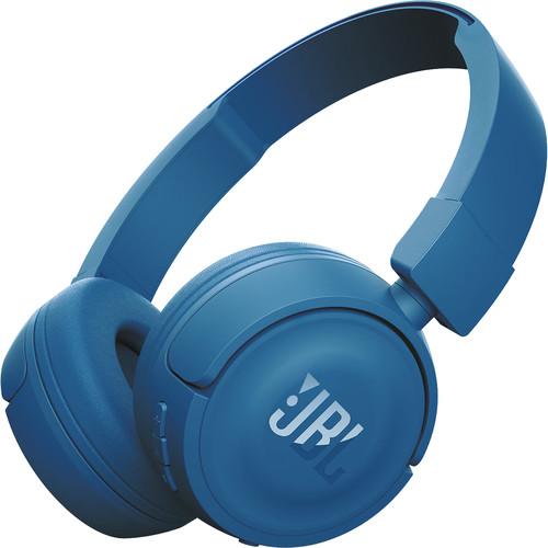 JBL T450BT Wireless On-Ear Headphones (Blue)