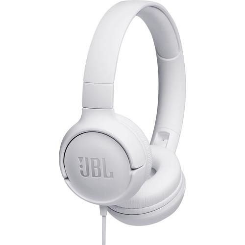 JBL TUNE 500 Wired On-Ear Headphones (White)