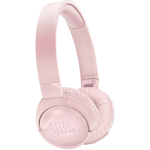 JBL TUNE 600BTNC Wireless On-Ear Headphones with Active Noise Cancellation (Pink)