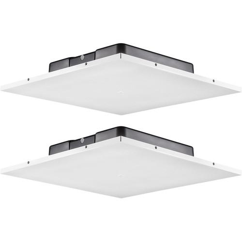 JBL LCT 81C/T Low-Profile Lay-In 2 x 2' Ceiling Tile Loudspeaker (2-Pack, White)