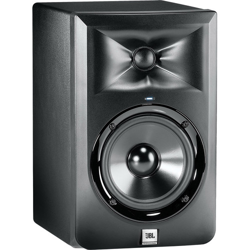 "JBL LSR305 5"" 2-Way Powered Studio Monitors (Pair) & Bumblebee USB Mic Kit"