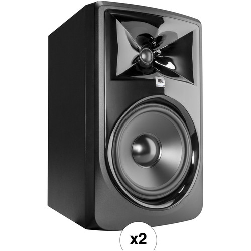 JBL 308P MkII Kit - Two Powered 8in. Two-Way Studio Monitors (Pair)