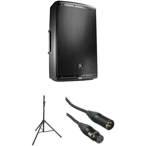 "JBL EON Powered 15"" Two-Way Speaker with PA Speaker Kit"