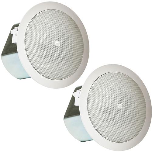"JBL Professional Series Control 12C/T 3"" Compact Ceiling Loudspeakers (White, Pair)"