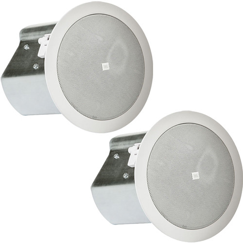 "JBL Professional Series Control 14C/T Two-Way 4"" Coaxial Ceiling Loudspeakers (White, Pair)"