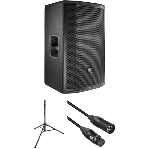 """JBL PRX815W 15"""" Loudspeaker with Stand and Cable Kit"""