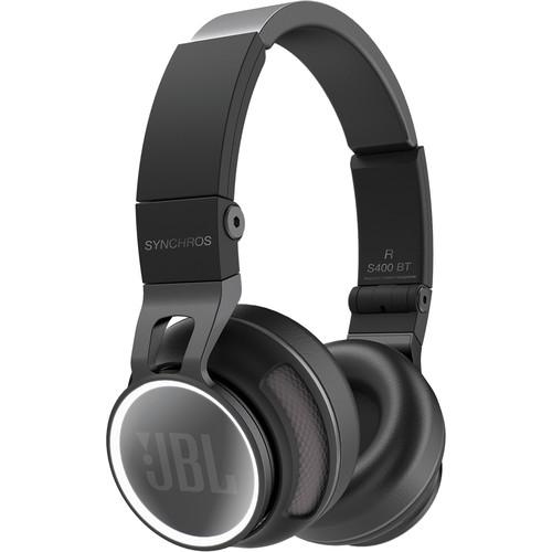 JBL Synchros S400BT Wireless On-Ear Bluetooth Stereo Headphones (Black)