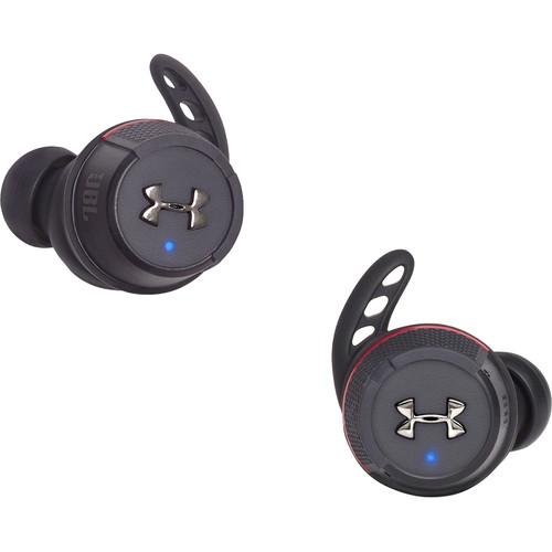 JBL Under Armour True Wireless Flash In-Ear Headphones (Black/Red)