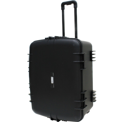 "JELCO Rugged Carry Case with Wheels, Extension Handle, and DIY Customizable Foam (2.2 x 14.8 x 9.0"")"