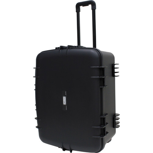 """JELCO Rugged Carry Case with Wheels, Extension Handle, and DIY Customizable Foam (25.3 x 18.6 x 11.7"""")"""