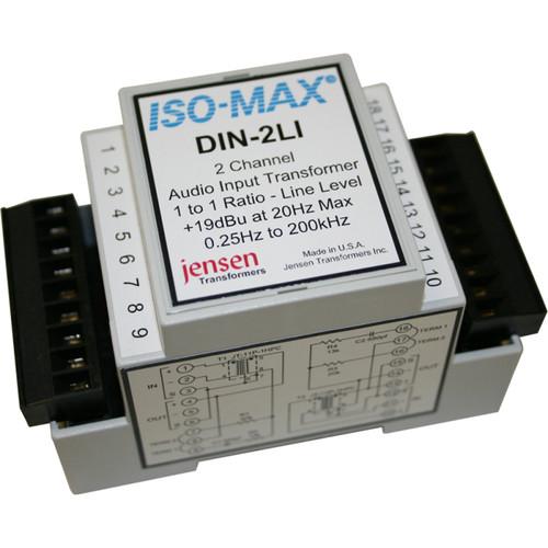 Jensen Transformers Iso-Max DIN-2LI - 2-Channel Line-Input Isolator (DIN Rail)