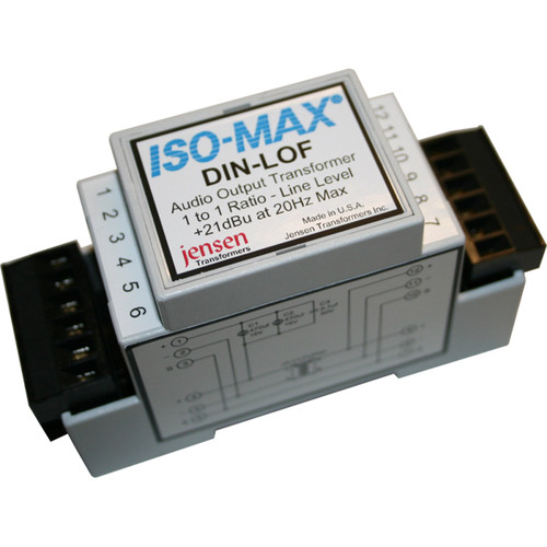 Jensen Transformers Iso-Max DIN-LOF Single-Channel Line Output Isolator (High Output, DIN Rail)