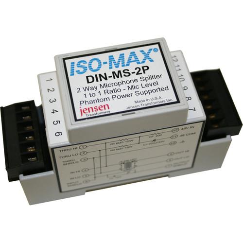 Jensen Transformers Iso-Max DIN-MS-2P - Single-Channel Mic Splitter (1x2, DIN Rail)