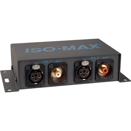 Jensen Transformers Iso-Max PC-2XR - 2-Channel Pro-to-Consumer Line Isolator (XLR In/ RCA Out)