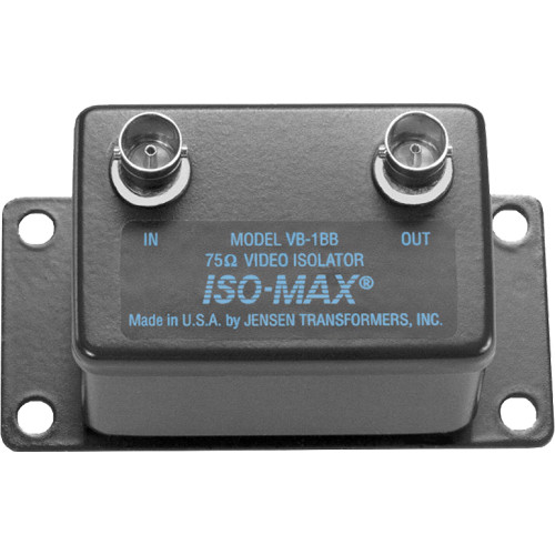 Jensen Transformers Iso-Max VB-1BB Single-Channel Composite Video Isolator (BNC In/Out)
