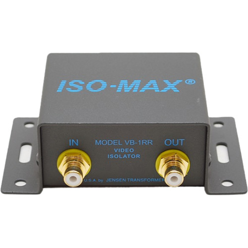 Jensen Transformers Iso-Max VB-1RR - Single-Channel Composite Video Isolator (RCA In/Out)