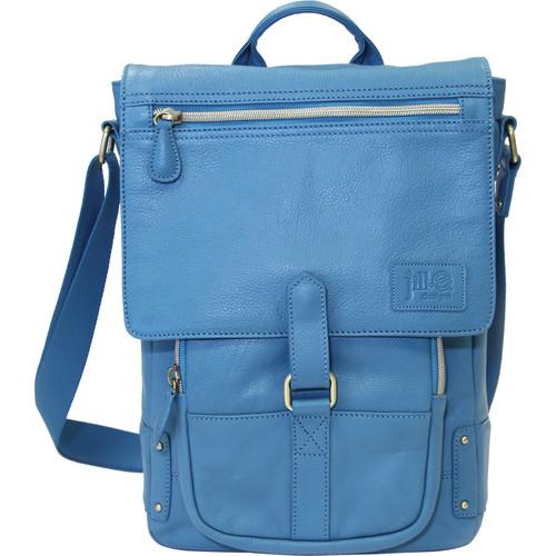 "Jill-E Designs Emma Leather Bag for 11"" Laptops/Tablets (Blue)"