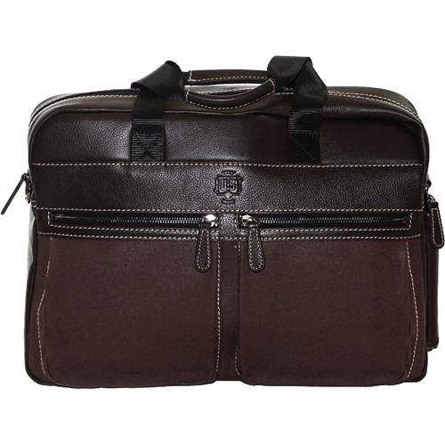 "Jill-E Designs JUST Silwex 15"" Leather Laptop Bag (Rum Raisin)"