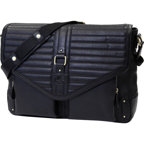 "Jill-E Designs Veronica 15"" Leather Laptop Bag (Black)"