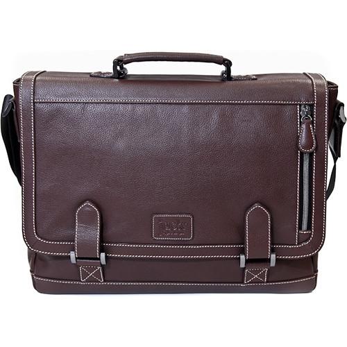 """Jill-E Designs Bennett Leather Messenger Bag for 15"""" Laptop (Brown)"""