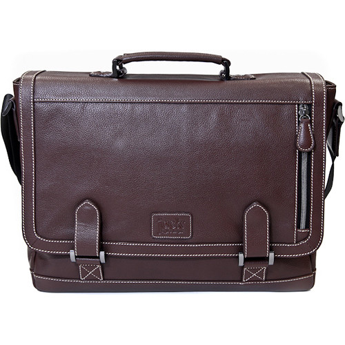 "Jill-E Designs Bennett Leather Messenger Bag for 15"" Laptop (Brown)"