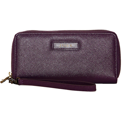 Jill-E Designs Smartphone Tech Wristlet with Built-in Charger (Aubergine)