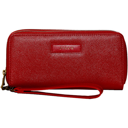 Jill-E Designs Bryn Tech Wristlet with Built-In Phone Charger (Red)