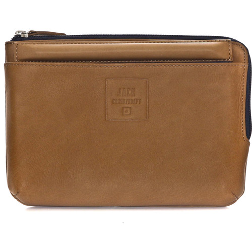 "Jill-E Designs Beck Leather Sleeve with Stand for 7"" Tablet (Tan)"