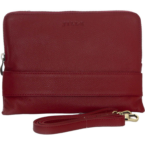 "Jill-E Designs Ivy Leather Clutch for 7"" Tablet (Red)"