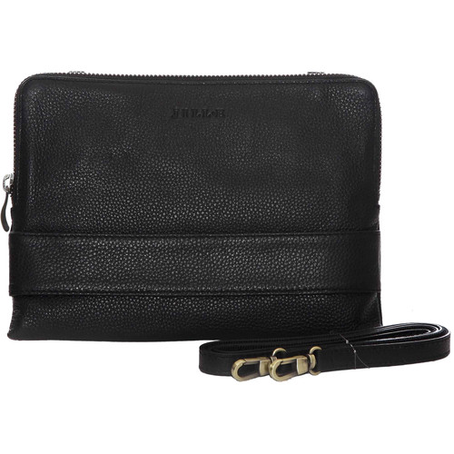 "Jill-E Designs Ivy Leather Clutch for 7"" Tablet (Black)"