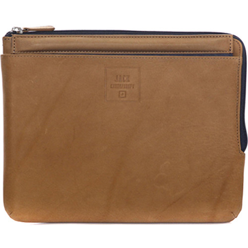 "Jill-E Designs Dominick Leather Sleeve with Stand for 10"" Tablet (Tan)"