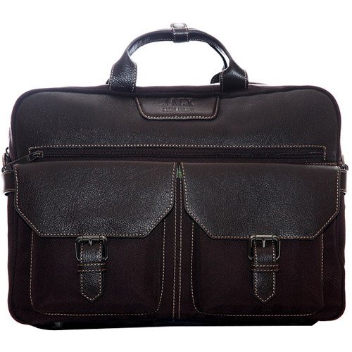 "Jill-E Designs Andrew Leather Briefcase for 15"" Laptop (Brown)"