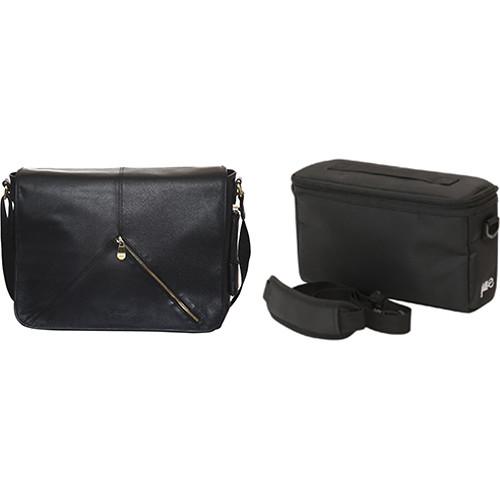 "Jill-E Designs Sasha 13"" Laptop Leather Bag with E-Go Camera Insert (B&H Kit)"