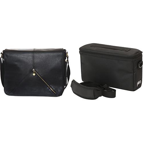"Jill-E Designs Sasha 15"" Laptop Leather Bag with E-Go Camera Insert (B&H Kit)"
