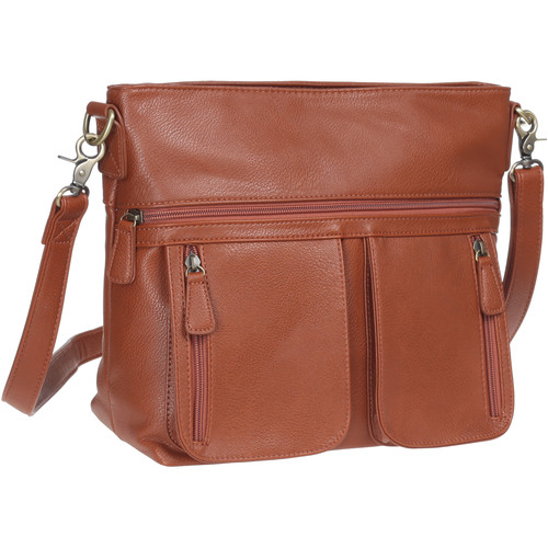 Jo Totes Allison Camera Bag with Dual Front Pouches (Butterscotch)