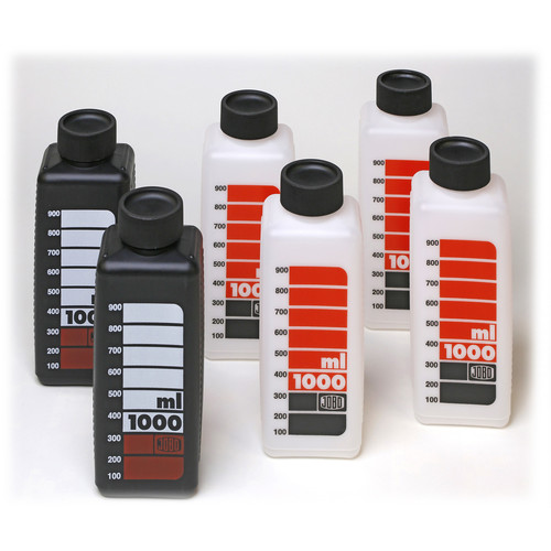 Jobo SKALED BOTTLES 1000 ml (4 White, 2 Black)