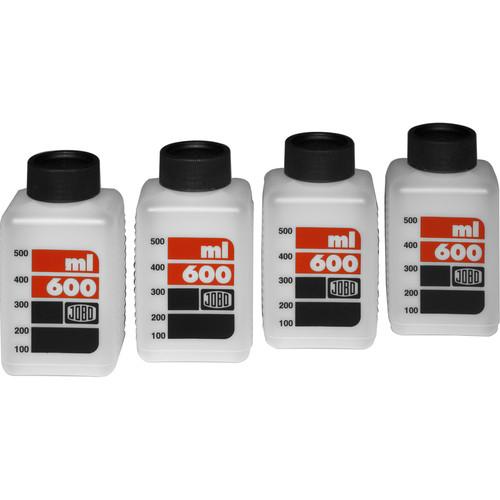 Jobo SKALED BOTTLES 600mL (4-Pack, White)