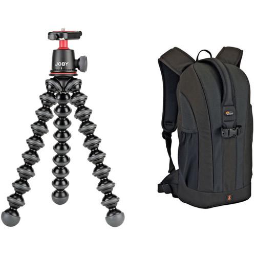 Joby Gorillapod 3K Tripod and Lowepro Flipside 200 Backpack Kit