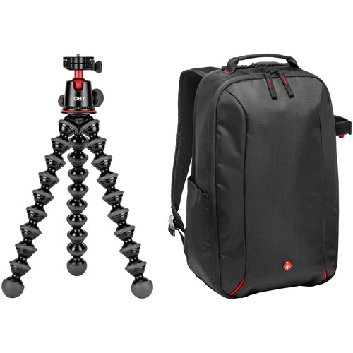 Joby Gorillapod 5K Tripod and Manfrotto Essential DSLR Camera Backpack Kit