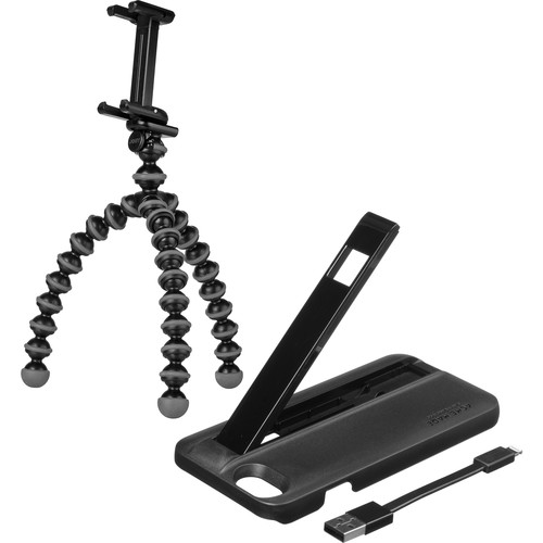 Joby GripTight Gorillapod Stand with Charge Case for iPhone 6/6s (Black/Charcoal)
