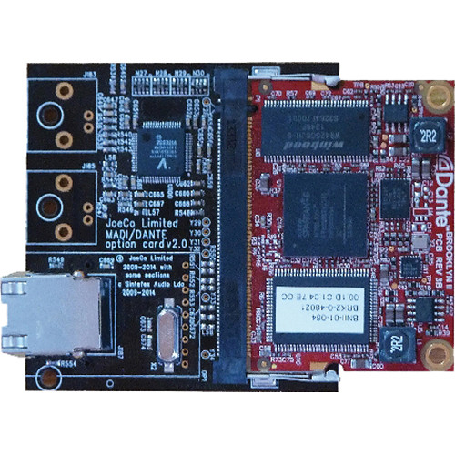 JoeCo Dante Card Option for the BBR1MP Recorder
