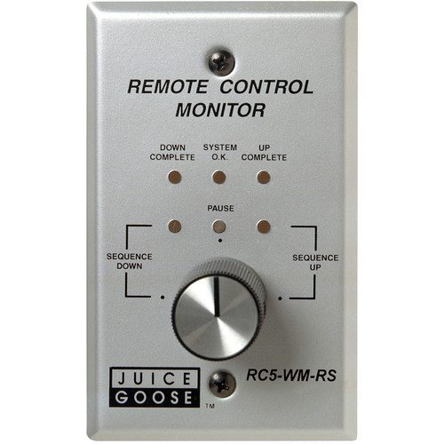 Juice Goose RC5-WM-RS Wall/Panel-Mount Remote Control and Monitor for CQ Series (with Rotary)