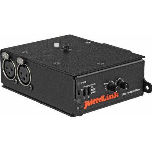 juicedLink CX211 Audio Mixer and Preamplifier for Camcorders (No Phantom)