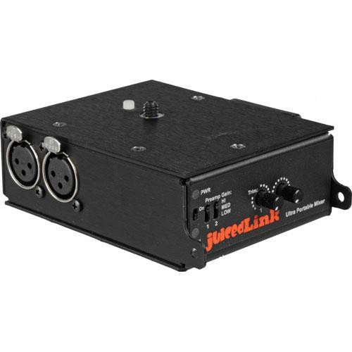 juicedLink CX231 Audio Mixer and Preamplifier for Camcorders with Phantom Power