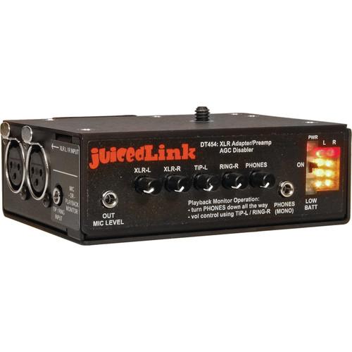 juicedLink DT454 4-Channel DSLR Camera Microphone Preamplifier