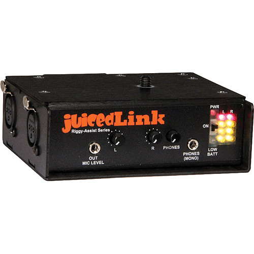 juicedLink RA202 Riggy-Assist Dual-XLR Preamplifier with Metering (No Phantom Power)
