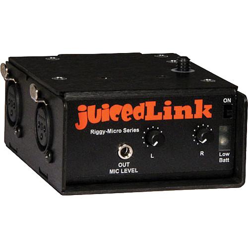 juicedLink RM222 Riggy-Micro Dual-XLR Preamplifier with Phantom Power