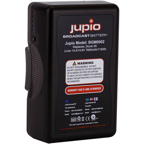 Jupio 7800mAh 14.4V Replacement Broadcast Battery for Gold-Mount Battery