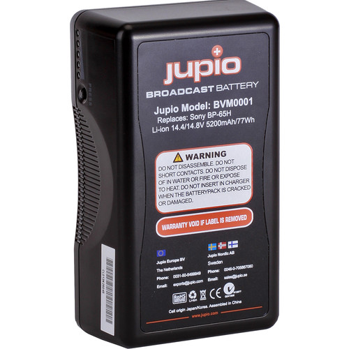 Jupio 5200mAh 14.4V Replacement Broadcast Battery for V-Mount Battery